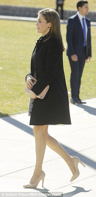 On the first day of March the weather had clearly warmed up in Spain as the Spanish royal stepped out without any tights