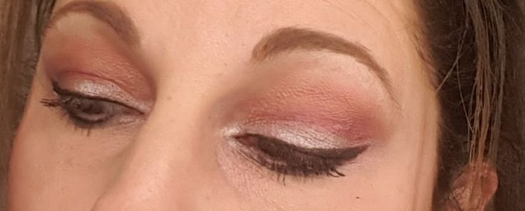 Younique palette 3. Pink with browns. modified cut crease look.  click on image for products