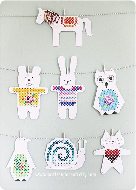 Cross stitch animals - by Craft & Creativity