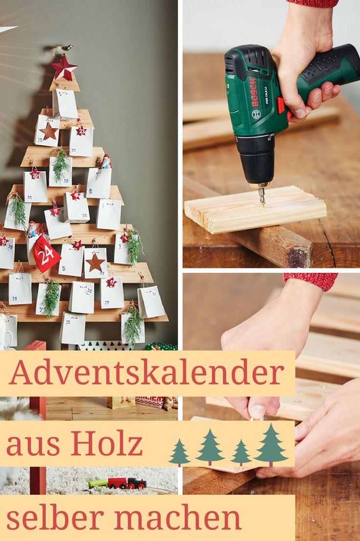 Gekaufte #adventskalender aus Pappe halten nur ein Jahr, diesen stabilen Adventskalender aus Holz kannst du Jahr für Jahr neu befüllen!  #weihnachten #christmas #Weihnachtsdeko #weihnachtsdekoration #holz #deko #diy