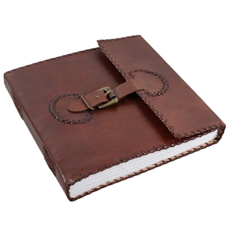 Belt with Buckle Leather Journal