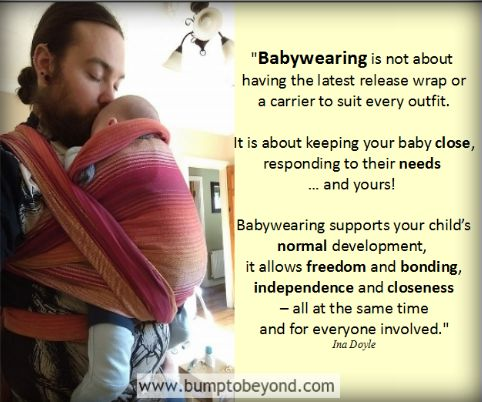 The essence of babywearing <3