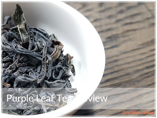 Review of JusTea's Purple Leaf Tea on One More Steep