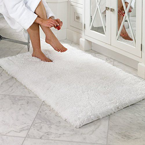 Lochas Soft Shaggy Bath Mat Bathroom Rug Anti Slip Floor Mats Absorbs Water