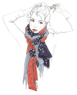 scarves: Layered Scarves, Ties Scarves, Fashion Scarves, Fashion Scarfs, Esquiss Galeri, Google Images, Galeri Blog, Art Fashion, Fashion Illustrations
