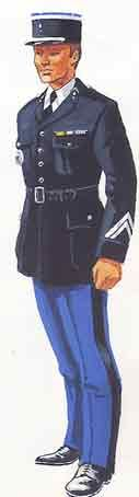 Uniforme du gendarme départemental Français en 1965 / 1965 uniform of the French Departmental Gendarmerie
