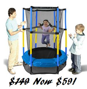"Great Deal! 55"" My First Trampoline with Tramp Balloon System $59 (Reg $149) - http://couponingforfreebies.com/great-deal-55-first-trampoline-tramp-balloon-system-59-reg-149/"