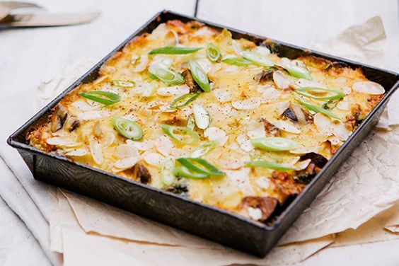 CHICKEN PASTA BAKE SERVES : 2 Nutritional Information/ per serve Energy 1700kj( 404 cal), Protein 47g, Fat 16g (Saturated 5g), Carbohydrate 11g (Sugar...