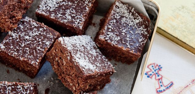 Chocolate coconut slice - New Zealand Womans Weekly