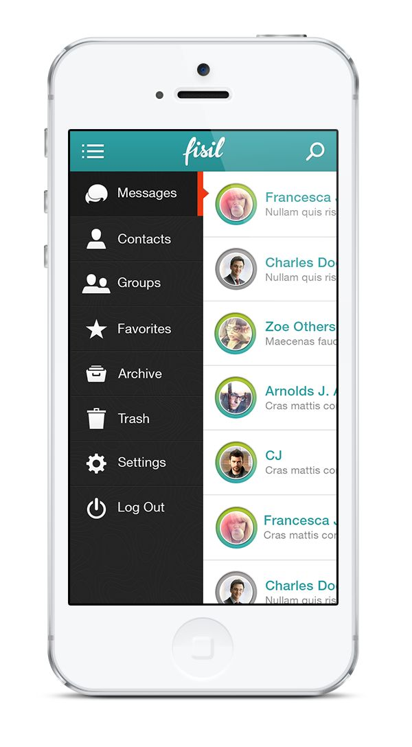 Live Messages App by Adi Dizdarevic, via Behance