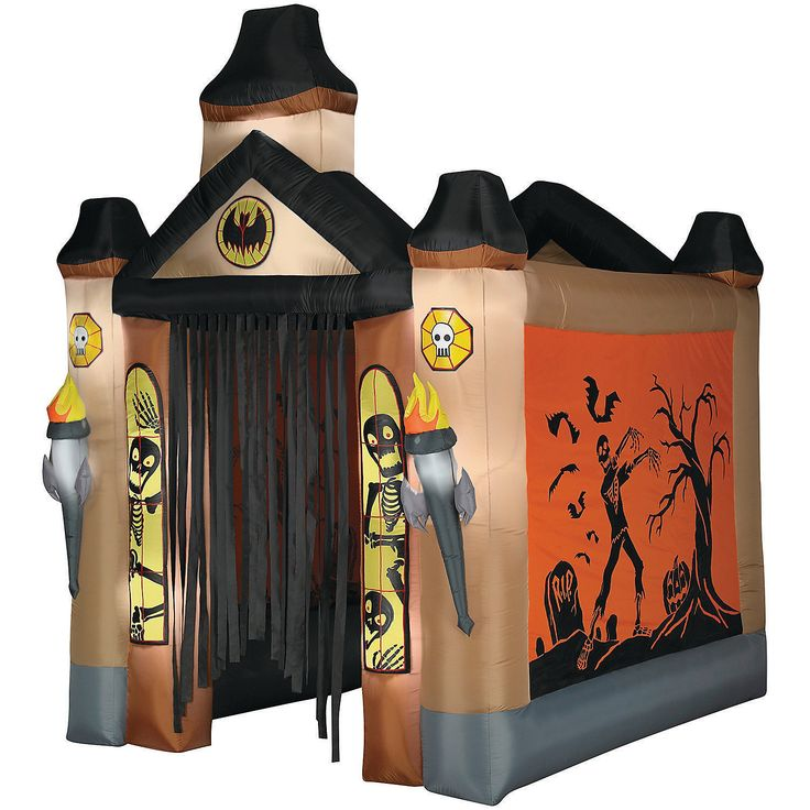 haunted tunnel airblown airblown archway haunt tunnel light up your yard with a halloween display this inflatable light up haunted house tunnel features - Walmart Halloween Decorations