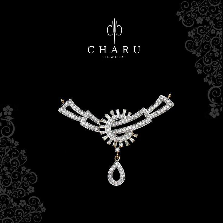 Diamond Necklaces : #wedding #collection #pendant #fusion #jewelery #real #diamond #traditional #cha