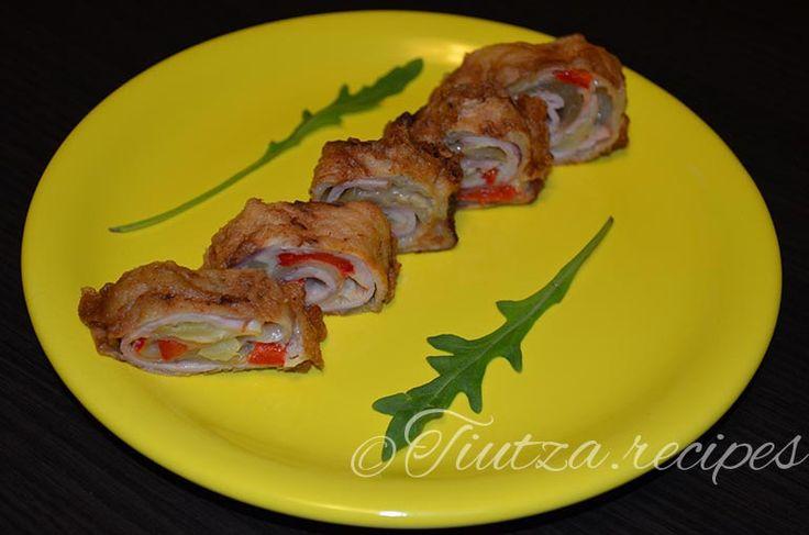 Eggplant rolls with cheese https://tiutza.recipes/aperitive/rulouri-de-vinete-cu-cascaval-si-muschi-tiganesc/