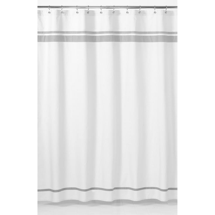 Sweet Jojo Designs White and Grey Hotel Shower Curtain   Overstock.com Shopping - The Best Deals on Shower Curtains