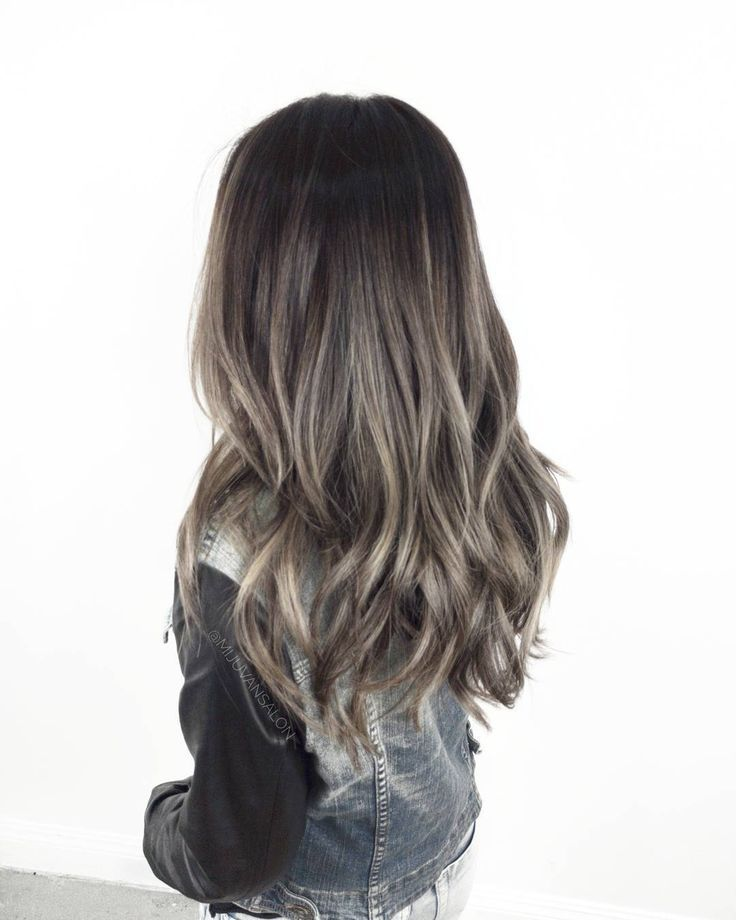 Resultado De Imagen Para Ash Highlights Dark Hair