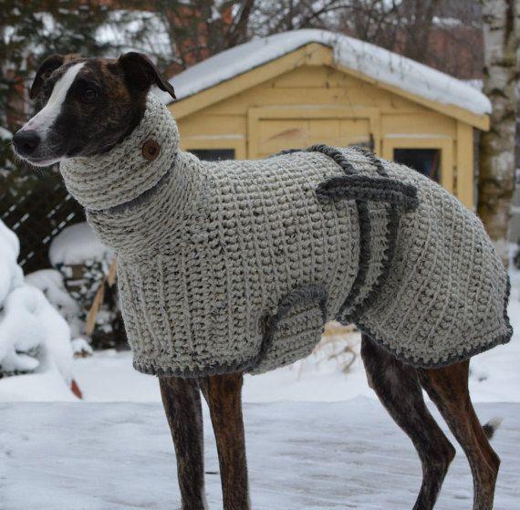 Greyhound Sweater  Greyhound Coat  by CTDESIGNSBESPOKEBAGS on Etsy                                                                                                                                                                                 More