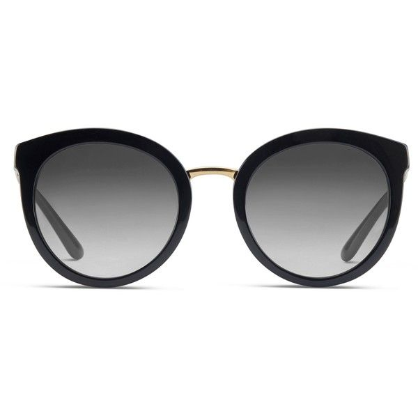 Dolce & Gabbana DG4268 Black (€225) ❤ liked on Polyvore featuring accessories, eyewear, sunglasses, glasses, black, sport glasses, round frame glasses, acetate glasses, round rim sunglasses and round acetate sunglasses