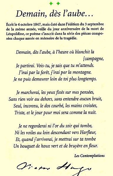 VICTOR HUGO....POEM....DEMAIN DéS L'AUBE.....