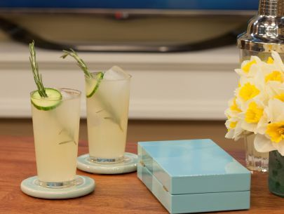 As seen on The Kitchen: GZ FizzFood Network, Gz Fizz, Gin Fizz, Fizz Recipe, Foodnetwork Com, Gingers Beer Cucumber Limes, Beverages, Geoffrey Zakarian, Ginger Beer