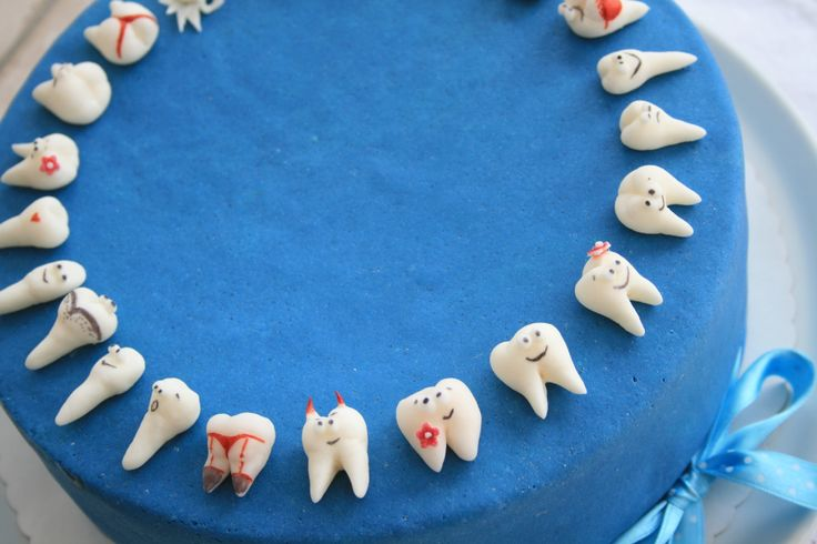 Dentist cake - :)  my dentist's humor