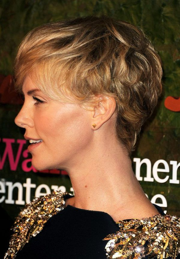 25 gorgeous charlize theron short hair ideas on pinterest hair romance charlize theron pixie cut hairstyle side view urmus Image collections