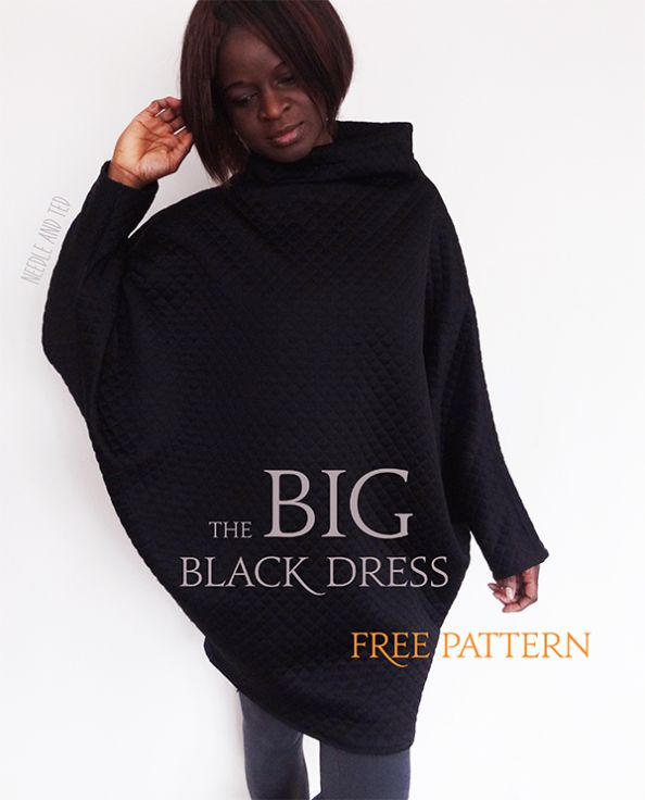BIG Black Dress_free pattern_Needle and Ted