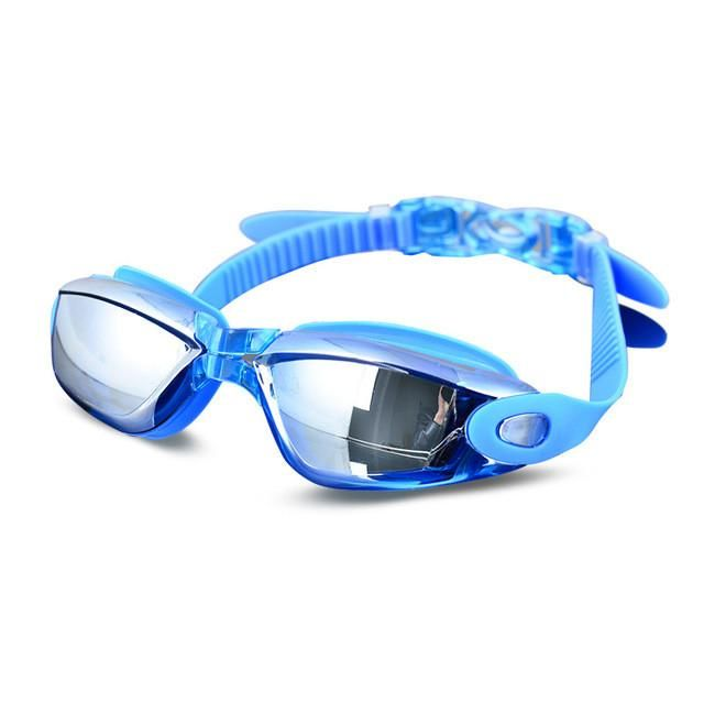 Fashion Adult Swimming Goggles Electroplated Frame Waterproof Swim Glasses Anti-fog Anti-UV Training Diving Goggles Accessories