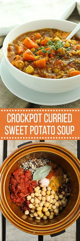 Crockpot Curried Sweet Potato Soup