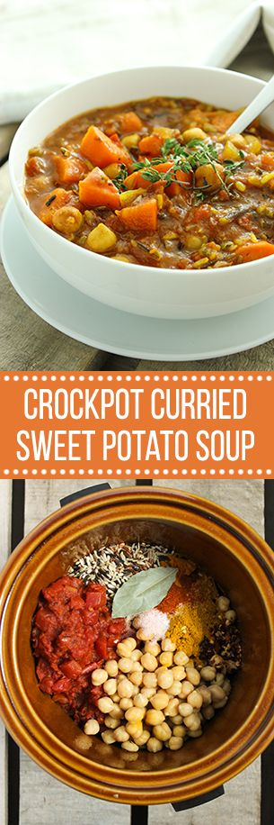 Crockpot Curried Sweet Potato Soup