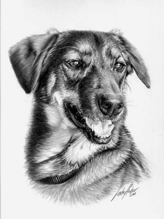 She is dedicated to making incredibly realistic pencil drawings she claims that she is a self taught professional pencil artist