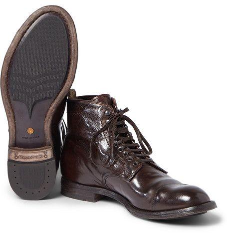 Officine CreativeAnatomia Glossed-Leather Boots