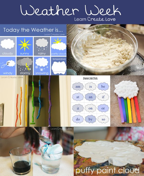 Weather Crafts & Activities with http://learncreatelove.com  LOVE this whole website!!!!!!