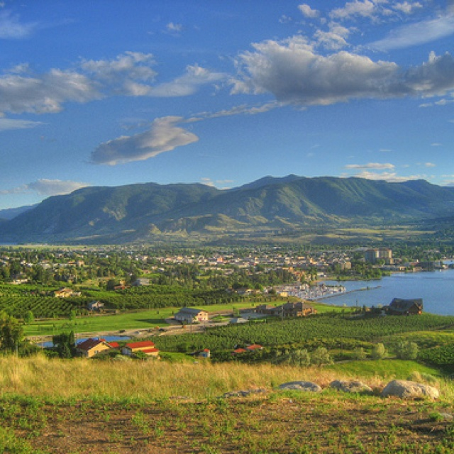 View of Penticton from Munson mountain...
