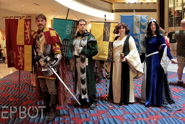 The Four House founders from Harry Potter. SO COOL! #cosplay #costumes