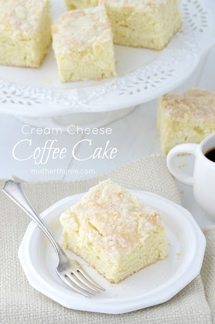 Cream Cheese Coffee Cake. Please don't let the long list of ingredients freak you out lol. They are items that you most likely already have in your kitchen. I'm making this! Enjoy!