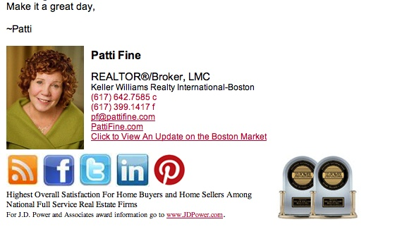 Patti Fine | Custom Email Signature for Gmail | Custom Email ...