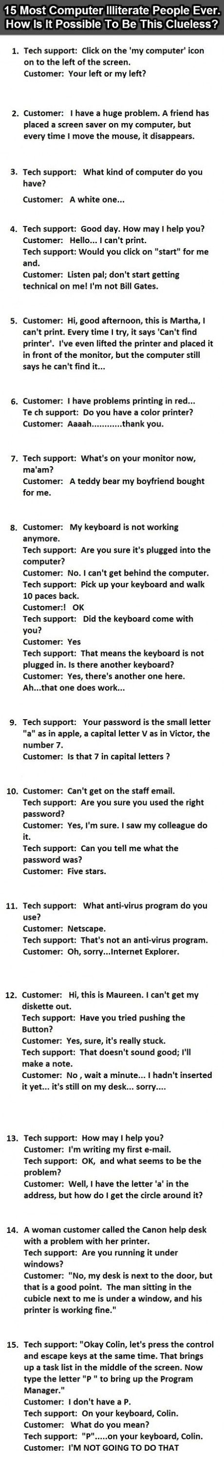 15 Of The Most Computer Illiterate People To Have Ever Called Tech Support - NewsLinQ