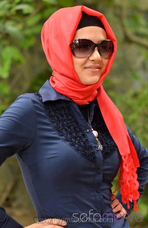 Turkish hijab and shades