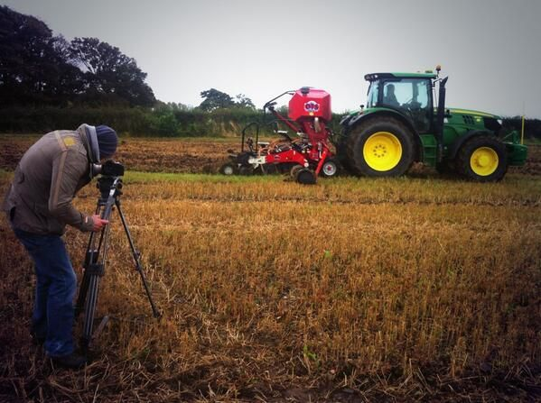 Filming the harvest