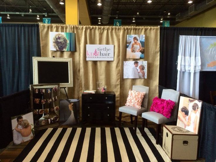 tie knot hair bridal show booth