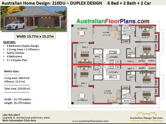 Duplex House Plans Book House Plans Home Plans Duplex Etsy Duplex House Plans Duplex Floor Plans House Plans