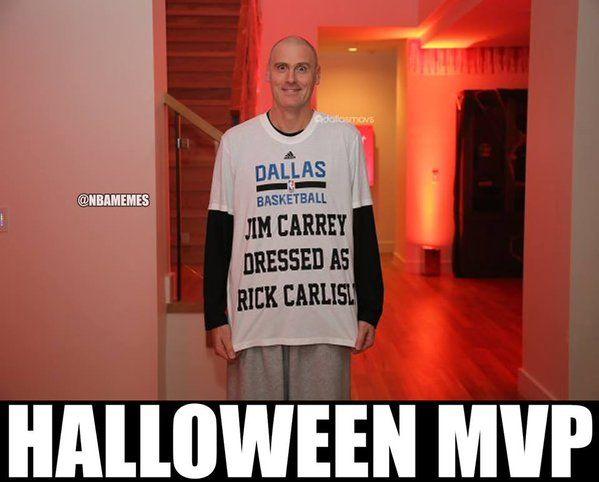 Rick Carlisle is the real Halloween MVP! - http://nbafunnymeme.com/nba-funny-memes/rick-carlisle-is-the-real-halloween-mvp