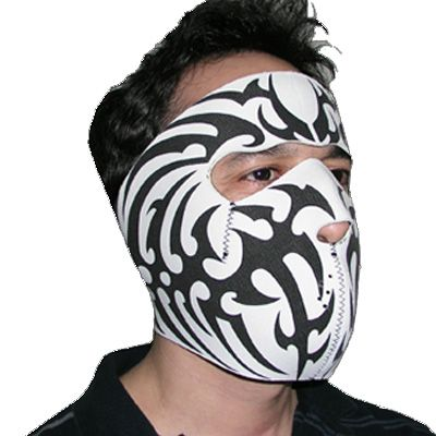 Tribal Tattoo Neoprene Face Mask Design On A Heavyweight Pictures