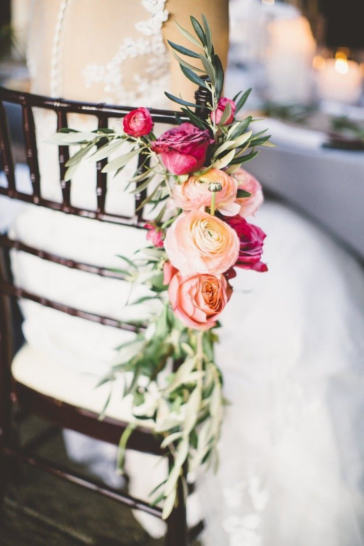 Decorate your wedding ceremony with beautiful blushing flowers to add a rustic and elegant detail.   wedding reception idea; photo: Sincereli Photography