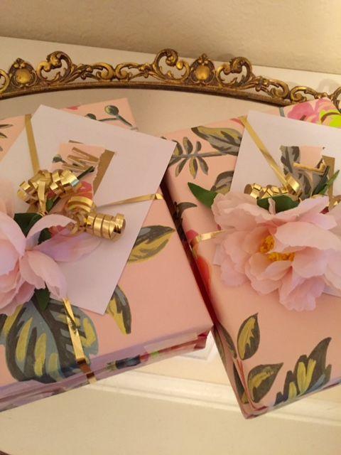 Garden Glam bridal shower hostess gifts