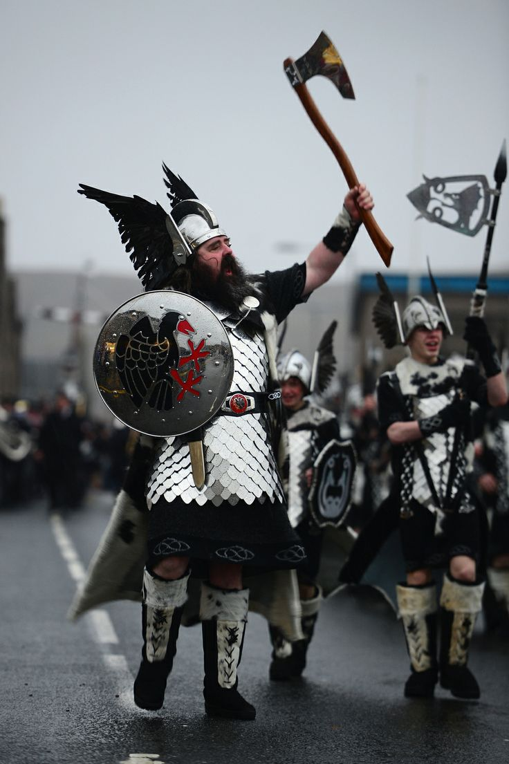 "PROUD VIKING WARRIORS. | Shetland's ""Up Helly Aa"" Fire Festival Looks Like The Best Festival On Earth"