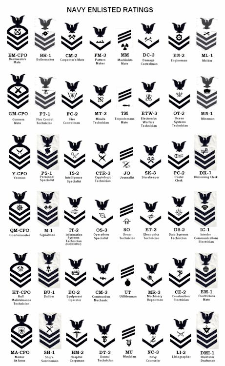 US Navy Enlisted Ratings (Sleeve Patch for White Uniform]
