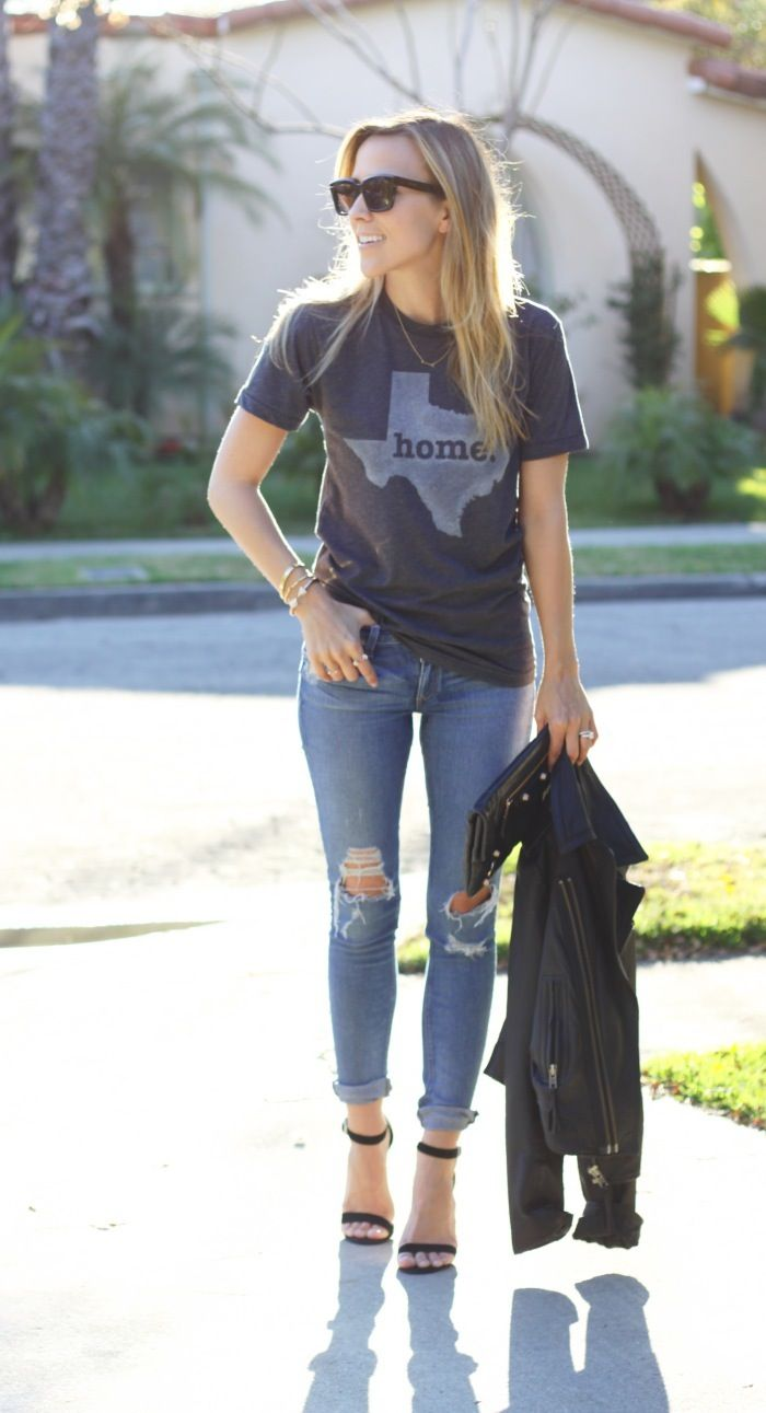 Jacey wearing the Texas Home Tee. Get yours here, http://www.thehomet.com/texas-home-t.