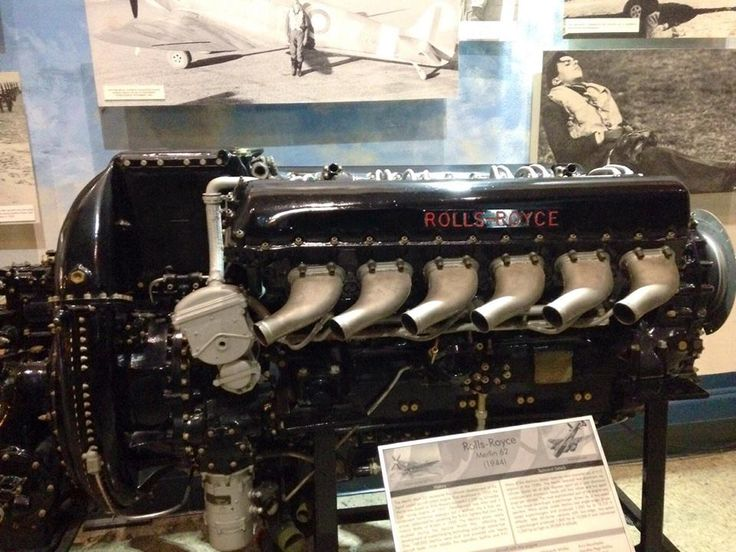 "The heart (rolls royce engine) of the Spitfire and the P-51 Rolls-Royce Merlin displaces 1650 cubic inches, has a bore and stroke of 5.5"" x 6.0"" and a supercharger ratio of 5.80:1. The engine can turn at 4200 revolutions per minute, though it was designed for about half that amount in airplane use, and coupled with a gear box ratio of approximately 3:1, the shaft rotates at over 12,000 revolutions per minute. As it races the Unlimited powerplant produces about 2500 horsepower."