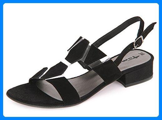 Tamaris 1-28150-38-001 Damen Sandale City Leder Synthetik Schwarz (Black), 36 EU - Sandalen für frauen (*Partner-Link)